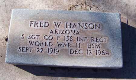 HANSON, FRED W. - Navajo County, Arizona   FRED W. HANSON - Arizona Gravestone Photos