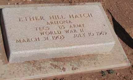 HATCH, ETHER HILL - Navajo County, Arizona | ETHER HILL HATCH - Arizona Gravestone Photos