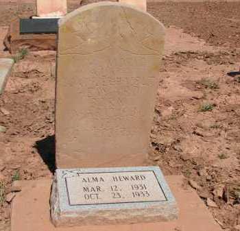 HEWARD, ALMA - Navajo County, Arizona | ALMA HEWARD - Arizona Gravestone Photos