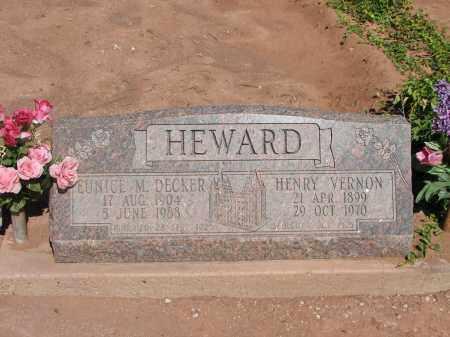 HEWARD, EUNICE M. DECKER - Navajo County, Arizona   EUNICE M. DECKER HEWARD - Arizona Gravestone Photos