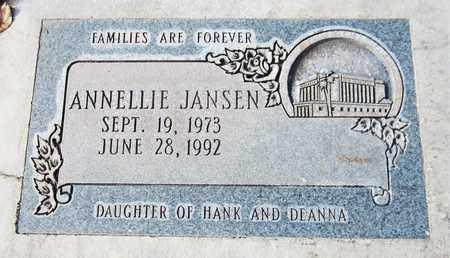 JANSEN, ANNELLIE - Navajo County, Arizona   ANNELLIE JANSEN - Arizona Gravestone Photos