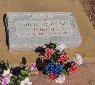 """JOHNSON, ANTHON LOUIS """"TONY"""" - Navajo County, Arizona   ANTHON LOUIS """"TONY"""" JOHNSON - Arizona Gravestone Photos"""