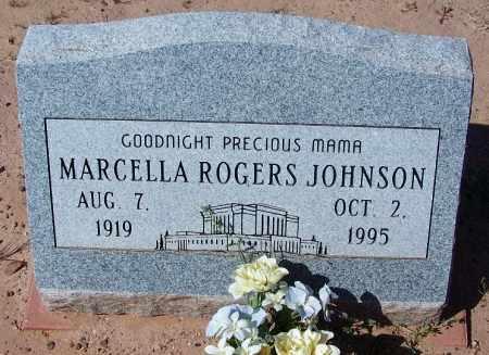 ROGERS JOHNSON, MARCELLA - Navajo County, Arizona | MARCELLA ROGERS JOHNSON - Arizona Gravestone Photos