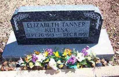TANNER KULESA, ELIZABETH - Navajo County, Arizona | ELIZABETH TANNER KULESA - Arizona Gravestone Photos