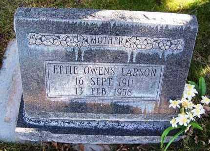 OWENS LARSON, ETTIE - Navajo County, Arizona | ETTIE OWENS LARSON - Arizona Gravestone Photos