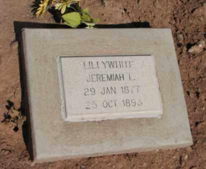 LILLYWHITE, JEREMIAH L. - Navajo County, Arizona   JEREMIAH L. LILLYWHITE - Arizona Gravestone Photos
