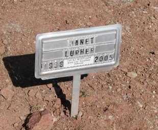 LUPHER, JANET - Navajo County, Arizona   JANET LUPHER - Arizona Gravestone Photos