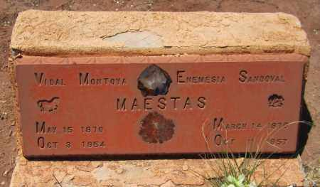 MAESTAS, VIDAL MONTOYA - Navajo County, Arizona   VIDAL MONTOYA MAESTAS - Arizona Gravestone Photos