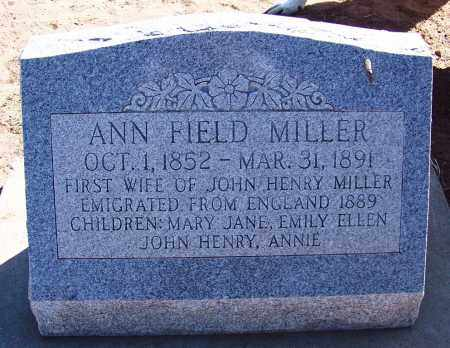 FIELD MILLER, ANN - Navajo County, Arizona | ANN FIELD MILLER - Arizona Gravestone Photos