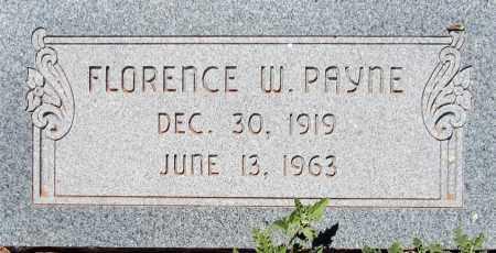 PAYNE, FLORENCE W. - Navajo County, Arizona   FLORENCE W. PAYNE - Arizona Gravestone Photos