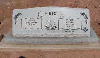 PINTO, WILLIAM ALPHAEUS - Navajo County, Arizona   WILLIAM ALPHAEUS PINTO - Arizona Gravestone Photos