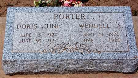 PORTER, DORIS JUNE - Navajo County, Arizona | DORIS JUNE PORTER - Arizona Gravestone Photos