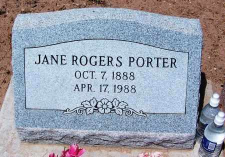 ROGERS PORTER, JANE - Navajo County, Arizona | JANE ROGERS PORTER - Arizona Gravestone Photos