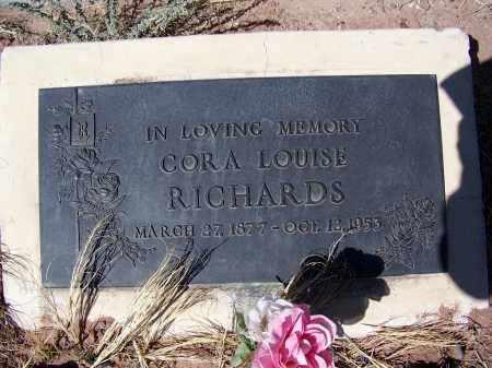 CROSS RICHARDS, CORA LOUISE - Navajo County, Arizona | CORA LOUISE CROSS RICHARDS - Arizona Gravestone Photos