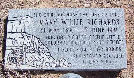 WILLIE RICHARDS, MARY SUTTON PETTIT - Navajo County, Arizona   MARY SUTTON PETTIT WILLIE RICHARDS - Arizona Gravestone Photos