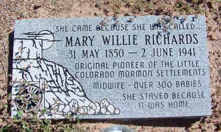 WILLIE RICHARDS, MARY SUTTON PETTITT - Navajo County, Arizona | MARY SUTTON PETTITT WILLIE RICHARDS - Arizona Gravestone Photos
