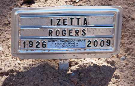 ROGERS, IZETTA - Navajo County, Arizona | IZETTA ROGERS - Arizona Gravestone Photos