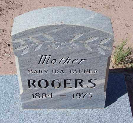 TANNER ROGERS, MARY IDA - Navajo County, Arizona | MARY IDA TANNER ROGERS - Arizona Gravestone Photos