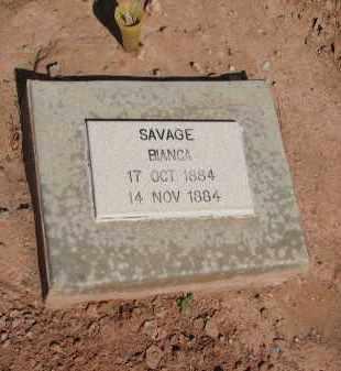 SAVAGE, BIANCA - Navajo County, Arizona | BIANCA SAVAGE - Arizona Gravestone Photos