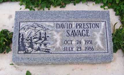 SAVAGE, DAVID PRESTON - Navajo County, Arizona | DAVID PRESTON SAVAGE - Arizona Gravestone Photos