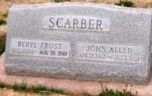 SCARBER, BERYL - Navajo County, Arizona | BERYL SCARBER - Arizona Gravestone Photos