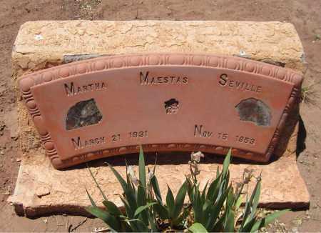 MAESTAS SEVILLE, MARTHA - Navajo County, Arizona | MARTHA MAESTAS SEVILLE - Arizona Gravestone Photos