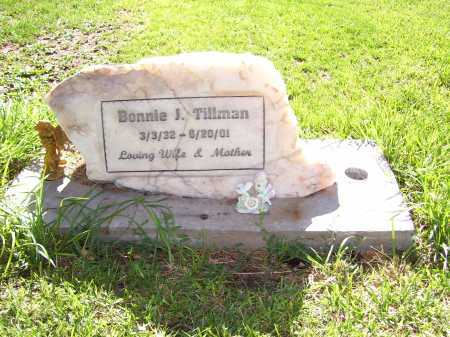 TILLMAN, BONNIE J. - Navajo County, Arizona | BONNIE J. TILLMAN - Arizona Gravestone Photos