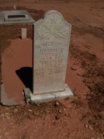 TURLEY, HYRUM V. - Navajo County, Arizona   HYRUM V. TURLEY - Arizona Gravestone Photos