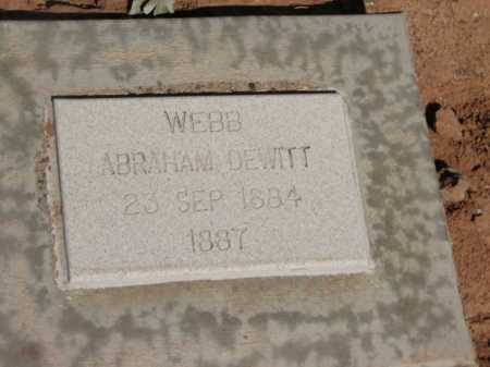 WEBB, ABRAHAM DEWITT - Navajo County, Arizona | ABRAHAM DEWITT WEBB - Arizona Gravestone Photos