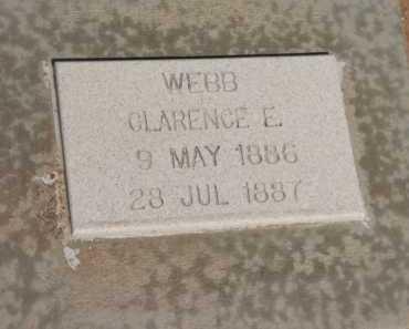 WEBB, CLARENCE E. - Navajo County, Arizona   CLARENCE E. WEBB - Arizona Gravestone Photos