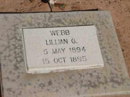 WEBB, LILLIAN G. - Navajo County, Arizona   LILLIAN G. WEBB - Arizona Gravestone Photos