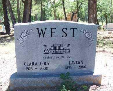 WEST, CLARA CODY - Navajo County, Arizona | CLARA CODY WEST - Arizona Gravestone Photos