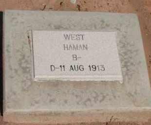 WEST, HAMAN - Navajo County, Arizona | HAMAN WEST - Arizona Gravestone Photos