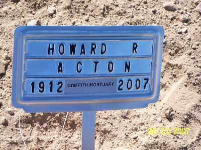 ACTON, HOWARD R. - Pinal County, Arizona | HOWARD R. ACTON - Arizona Gravestone Photos