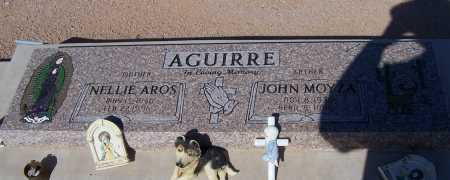 AROS AGUIRRE, NELLIE AROS - Pinal County, Arizona | NELLIE AROS AROS AGUIRRE - Arizona Gravestone Photos