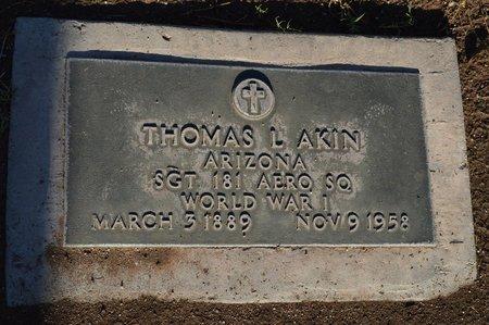 AKIN, THOMAS L - Pinal County, Arizona | THOMAS L AKIN - Arizona Gravestone Photos