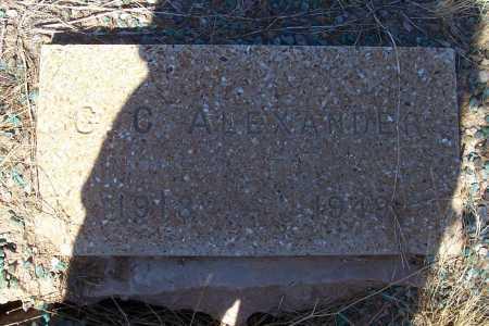 ALEXANDER, G. C. - Pinal County, Arizona   G. C. ALEXANDER - Arizona Gravestone Photos