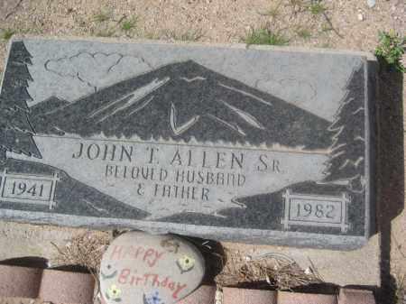 ALLEN, JOHN T. - Pinal County, Arizona | JOHN T. ALLEN - Arizona Gravestone Photos