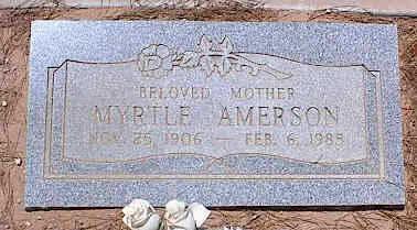 AMERSON,  MYRTLE - Pinal County, Arizona    MYRTLE AMERSON - Arizona Gravestone Photos