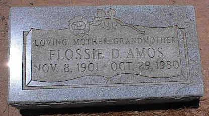 AMOS, FLOSSIE D. - Pinal County, Arizona   FLOSSIE D. AMOS - Arizona Gravestone Photos