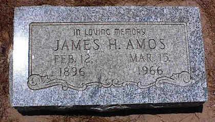AMOS, JAMES H. - Pinal County, Arizona   JAMES H. AMOS - Arizona Gravestone Photos