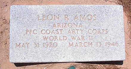 AMOS, LEON R. - Pinal County, Arizona | LEON R. AMOS - Arizona Gravestone Photos