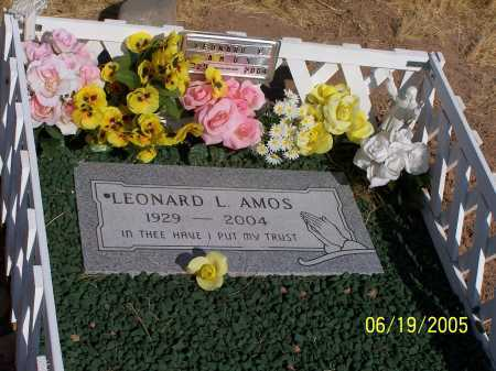 AMOS, LEONARD L - Pinal County, Arizona   LEONARD L AMOS - Arizona Gravestone Photos