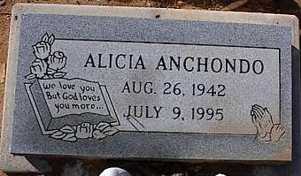 ANCHONDO, ALICIA - Pinal County, Arizona | ALICIA ANCHONDO - Arizona Gravestone Photos