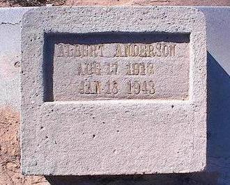 ANDERSON, ALBERT - Pinal County, Arizona   ALBERT ANDERSON - Arizona Gravestone Photos