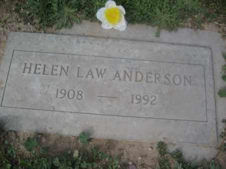 ANDERSON, HELEN LAW - Pinal County, Arizona   HELEN LAW ANDERSON - Arizona Gravestone Photos