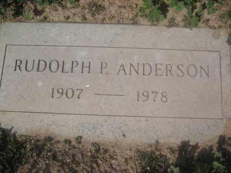 ANDERSON, RUDOLPH P. - Pinal County, Arizona | RUDOLPH P. ANDERSON - Arizona Gravestone Photos