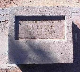 ANDERSON, WILLIAM - Pinal County, Arizona | WILLIAM ANDERSON - Arizona Gravestone Photos