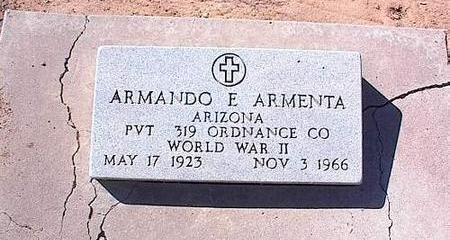 ARMENTA, ARMANDO E. - Pinal County, Arizona | ARMANDO E. ARMENTA - Arizona Gravestone Photos