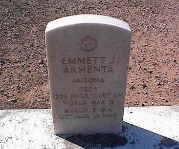 ARMENTA, EMMETT J. - Pinal County, Arizona | EMMETT J. ARMENTA - Arizona Gravestone Photos